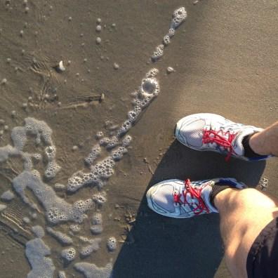 Les pieds presque dans l'eau