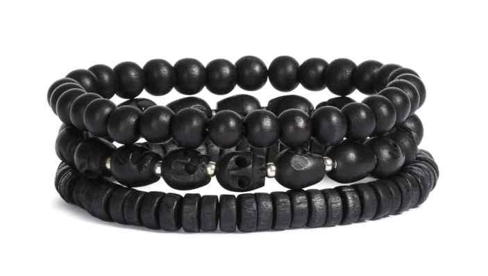 lot-bracelets-perle-noir