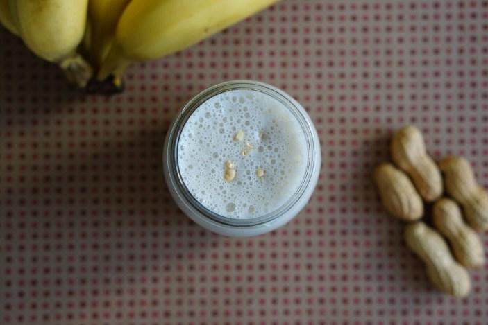 Recette de smoothie banane cacahuète