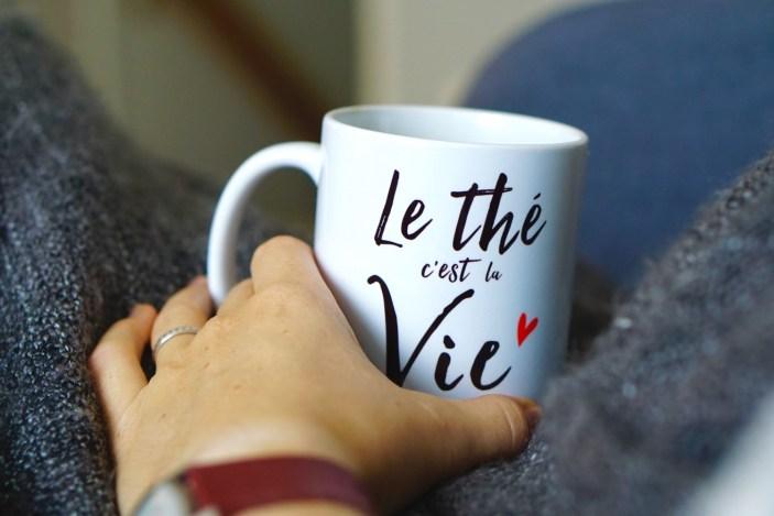 Tasse de thé Chakaiclub : Le thé c'est la vie