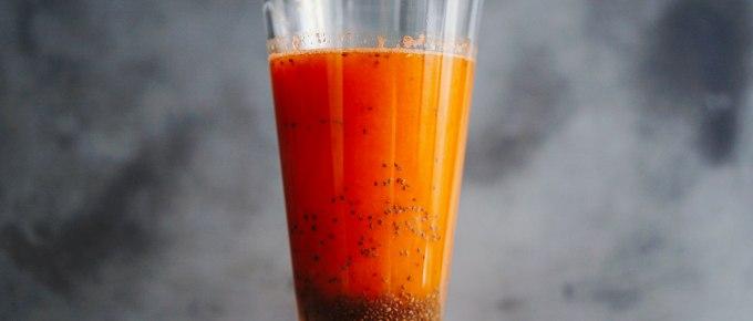 Recette de jus de fruit ACE maison au graines de chia