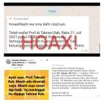 CEK FAKTA: Hoax Prof Tabrani Meninggal Dunia