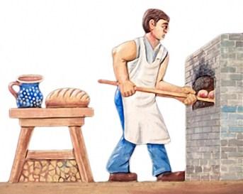 backstube, Brot backen, Bäcker, Backofen