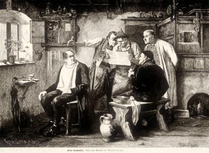 Dorfbarbier, 1887 (Müller-Lingke)