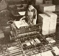 Falzmaschine, Buchbinderei