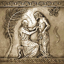 Relief: Arzt im antiken Griechenland