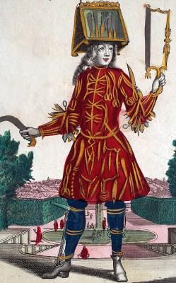 Kupferstich: Messerschmied mir seinen Werkzeugen