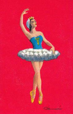 Spielkarte: Balletttänzerin im Tutu