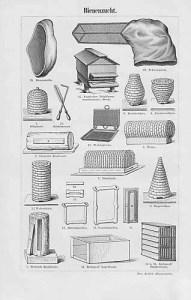 sw: Werkzeuge und Bienenkörbe der Imker