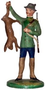Figur: Jäger mit erlegtem Hasen