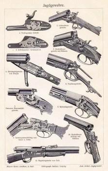Illustration: verschiedene Jagdgewehre