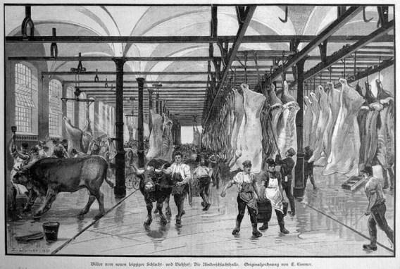 Rinderschlachthalle Leipzig, 1890