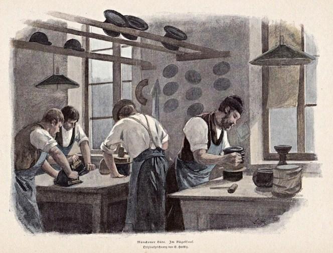 Hutmacher, Bügelsaal, Münchener Hüte, Handwerk