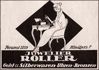 Reklame von Juwelier Roller