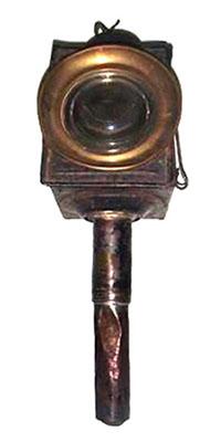 antike Kutschenlampe aus Messing