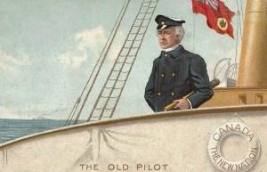 kanadischer Schiffskapitän auf einem Schiff