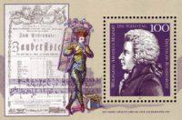 Mozart, Zauberflöte, Gedenkbriefmarke