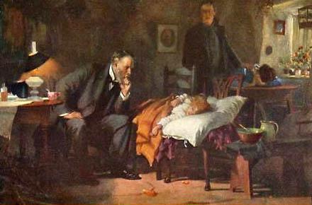Arztbesuch, Arzt, krankes Kind, Hausbesuch, Krankenbesuch