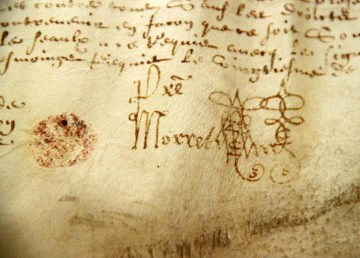 Pergament, Schriftstück
