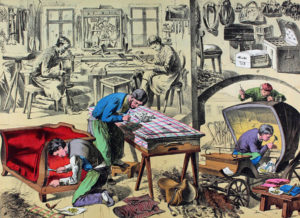 Sattler, sellier, Handwerk, Werkstatt