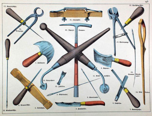 Werkzeuge, Sattler, Tools