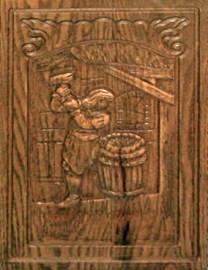 Holzrelief: Fassbinder