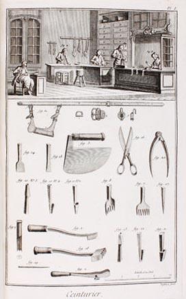 Gürtler, Ceinturier, Handwerker, Werkzeuge