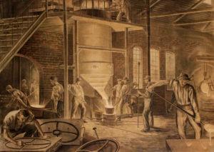 Eisengießerei, Eisengießer, Eisenherstellung, Eisenindustrie