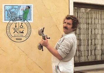 Briefmarke, Glaser, Handwerker