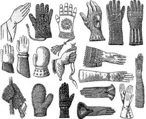 verschiedene Handschuharten