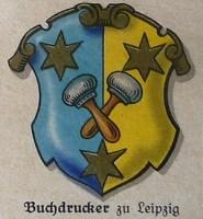 Zunftwappen, Zunftzeichen, Buchdrucker, Leipzig, Handwerk