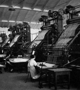 Papierherstellung, Papiermaschine