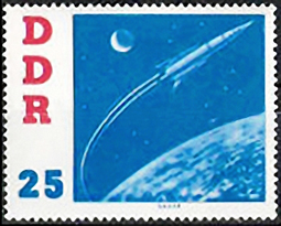 Briefmarke: Wostkok 2 fliegt in den Weltall