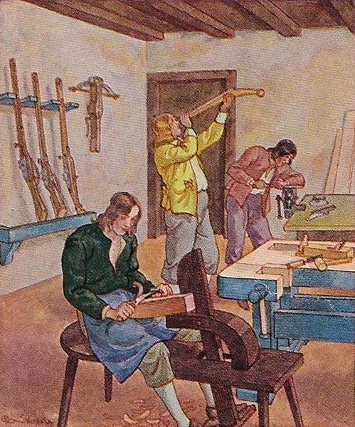 Büchsenmacher, Büchsenschiffer, Waffenschmied, Gewehre, Waffen