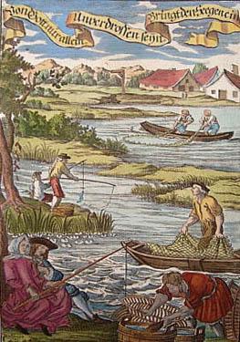 Szene mit verschiedenen Fangmethoden