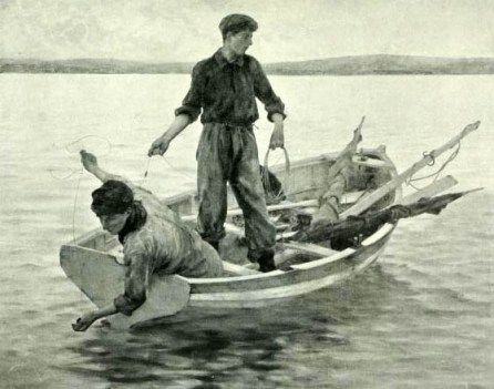 Fischerboot, Kahn, Boot, Fischer
