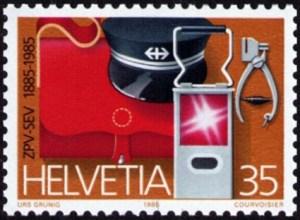 Briefmarke, Schaffner, Schweiz