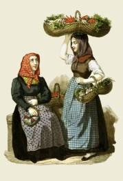 Gemüsehändlerinnen, Händler, Verkauf, Gemüse