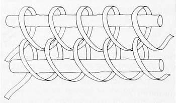 sw-Zeichnung: Korbflechten Muster
