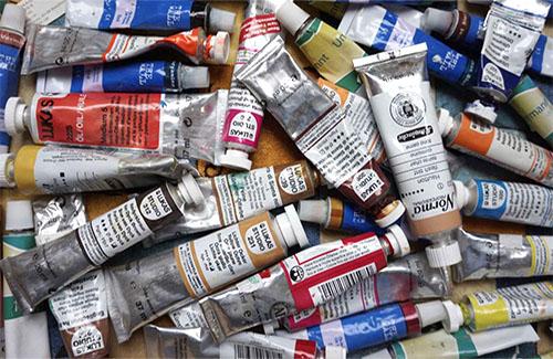 Kunstmaler, Maler, Ölfarben, Farbtuben