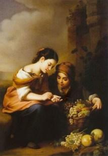 Obsthändlerin, Obst, Verkauf, Spanien