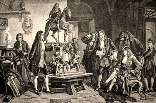 Steinbildhauer, Bildhauer, Atelier, Schlüter, König Friedrich I., Denkmal, Berlin