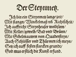 Steinmetz, Steinhauer, Steinklopfer