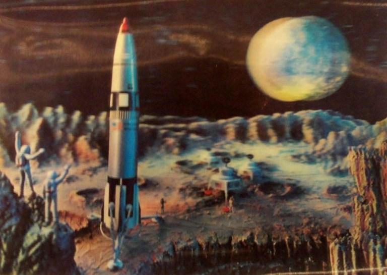 Weltall, Rakete, Mond, Kosmos, Raumfahrt, Kosmonauten