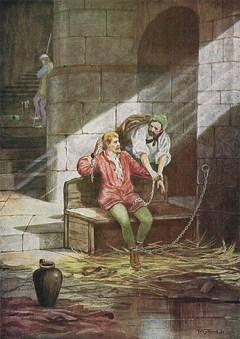 Kerkermeister, Gefängniswärter, Gefangenenaufseher, Kerker, England