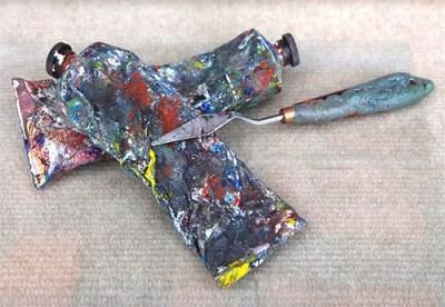 Kunstmaler, Maler, Farbspachtel