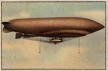 altes Sammelbild: Luftschiff