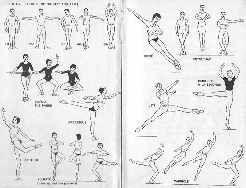 sw-illu: verschiedene Ballettfiguren werden gezeigt