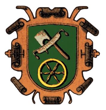 Zunftwappen: Werkzeuge und Rad