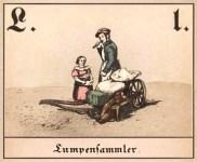 Farbillu L wie Lumpensammler, aus ABC-Fibel des 19. Jh